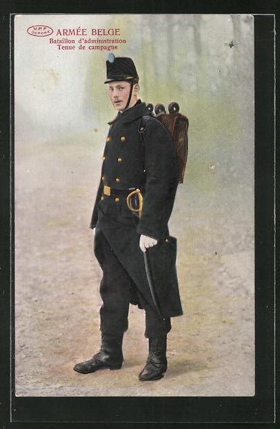 AK Armée Belge, Bataillon d'administration, Tenue de Campagne, Uniform
