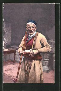 AK Herzegowinischer Bauer in traditioneller Garderobe
