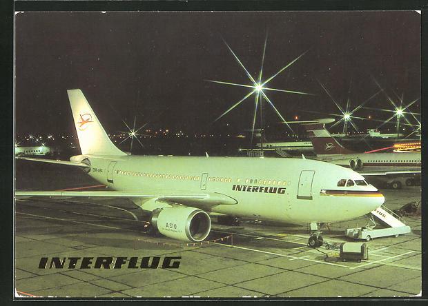 AK Interflug Airbus A 310, DDR, Düsenjet