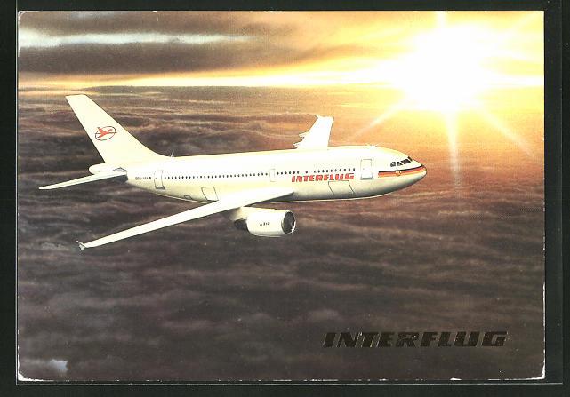 AK Interflug, Airbus A 310 über den Wolken