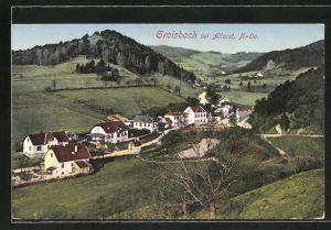 AK Groisbach, Ortsansicht aus der Vogelschau