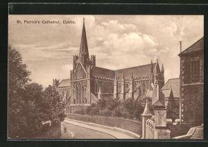 AK Dublin, Blick zur St. Patrick's Cathedral