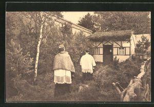 AK Hasselt, Processie van het H. Sacrament van Mirakel 1804-1929, 4 en 11 Augustus. Berkstraat, De Berechting