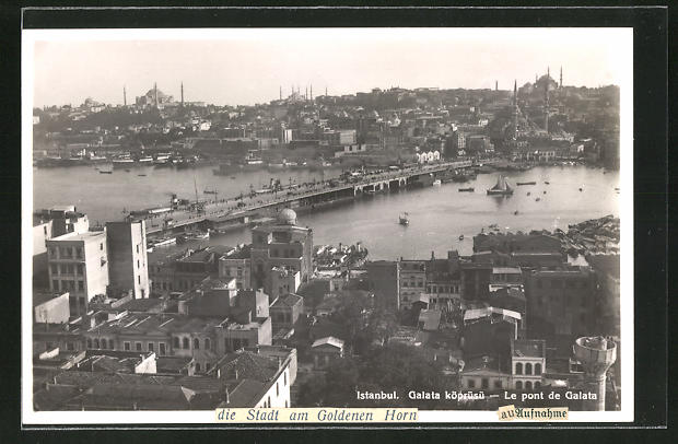 AK Istanbul, Galata köprüsü, Le Pont de Galata, Brücke