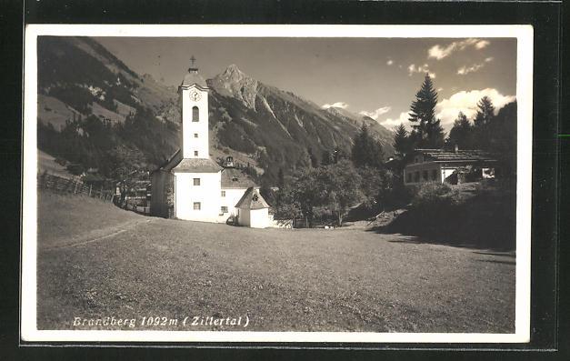 AK Brandberg / Zillertal, Ansicht der Kirche