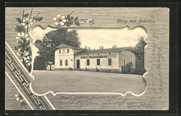 AK Boblitz, Partie am Meyer's Gasthaus