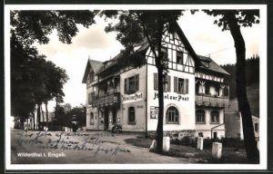 AK Wildenthal / Erzgeb., Strasse am Hotel zur Post