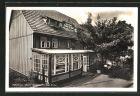 AK Rübeland / Harz, Gasthaus grüne Eiche, Eingangspartie