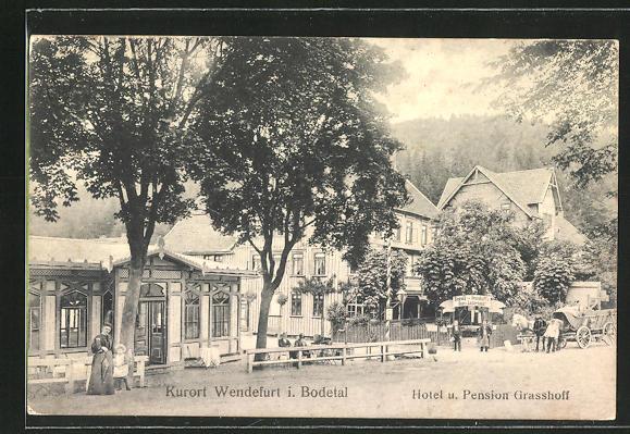 AK Wendefurth / Bodetal, Hotel und Pension Grasshoff