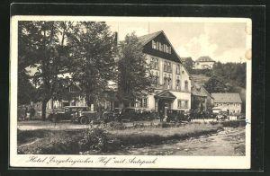 AK Oberschlema, Hotel Erzgebirgischer Hof von Willy Fiedler