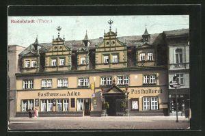 AK Rudolstadt / Thür., Ansicht vom Gasthaus zum Adler