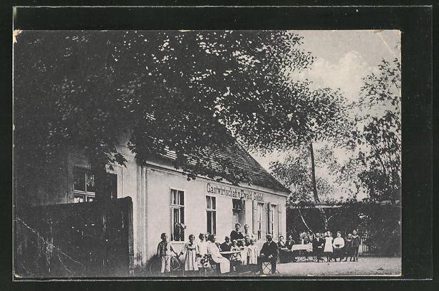 Gasthaus Waldkater Mit Gästen Im Garten 1911 Ansichtskarten Ak Bernau