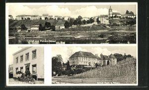 AK Palzem / Mosel, Gasthaus Joh. Frank-Kries, Schloss Thorn, Totalansicht