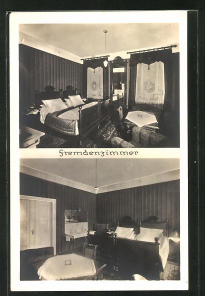 AK Meerane / Sa., Hotel Härtels, Bes.: K. H. Naunapper, Innenansichten vom Fremdenzimmer 0