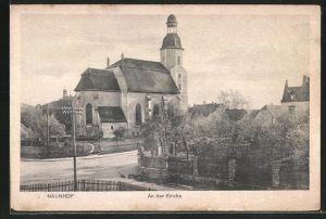 AK Naunhof, Partie an der Kirche