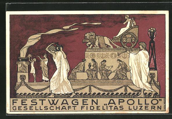 AK Luzern, 23. Eidg. Sängerfest 1922, Festwagen