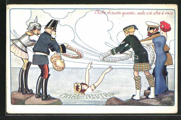 Künstler-AK A. Bertiglia: Kaiser Franz Josef I. von Österreich wirft einen Rettungsring ins Wasser