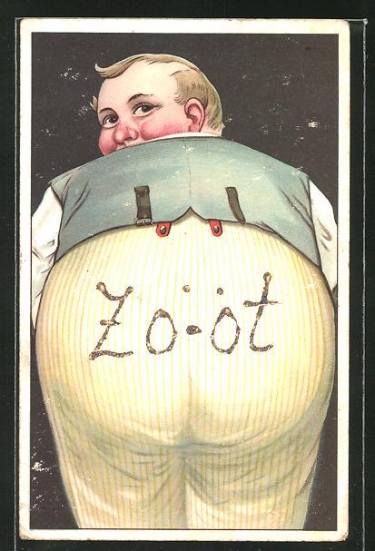 AK Zo-ot, Übergewichtiger Mann von hinten betrachtet