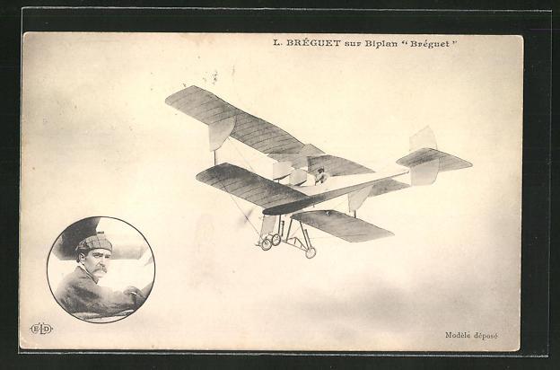 AK L. Bréguet sur Biplan