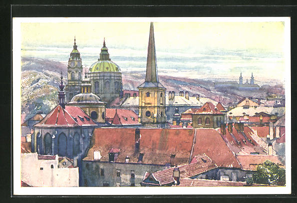 Künstler-AK Jaroslav Setelik: Prag, Malostranská skupina