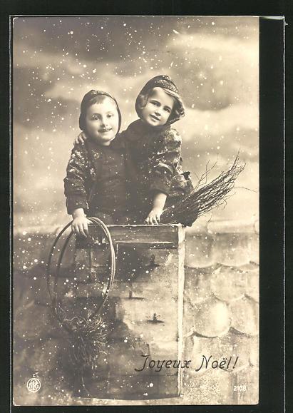 AK Joyeux Noel!, zwei kleine Schornsteinfeger