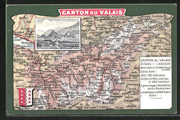 AK Sion, Gesamtansicht mit umliegenden Ortschaften