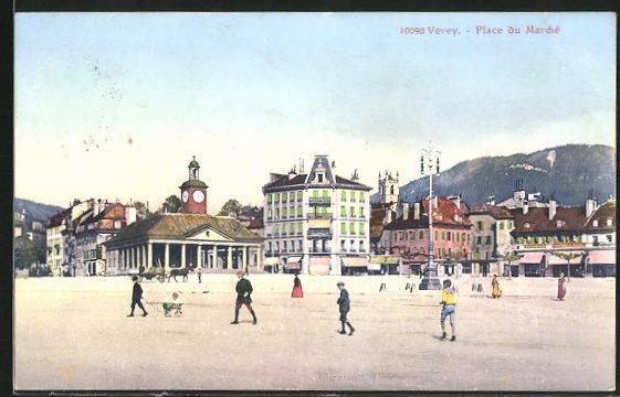 AK Vevey, Place du Marché