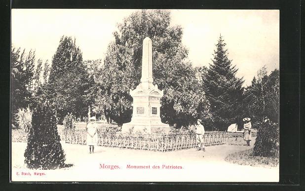 AK Morges, Monument des Patriotes