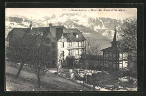 AK Baumaroche, Hotel des Alpes et les Alpes