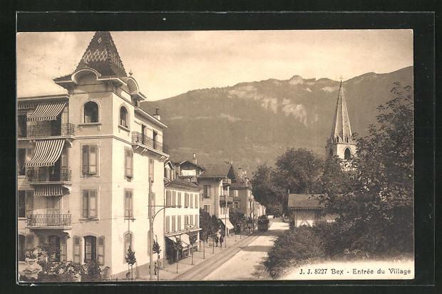 AK Bex, Entrée du Village, Strassenpartie