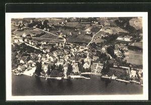 AK Erlenbach am Zürichsee, Gesamtansicht vom Flugzeug aus