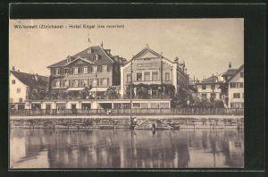 AK Wädenswil / Zürichsee, Am Hotel Engel