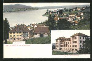 AK Erlenbach, Ortspartie mit Zürichsee, Asyl der Martinstiftung