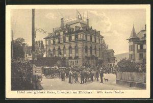 AK Erlenbach am Zürichsee, Hotel zum goldnen Kreuz von W. Amsler