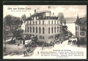 AK Erlenbach am Zürichsee, Hotel zum goldnen Kreuz