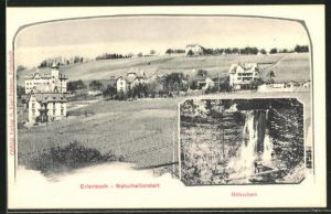 AK Erlenbach, Blick zur Naturheilanstalt, Höhschutz