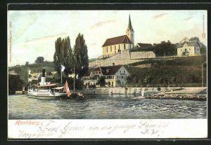 AK Herrliberg, Sicht zur Kirche