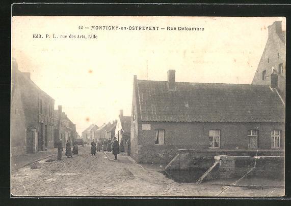 AK Montigny-en-Ostrevent, Rue Deloambre