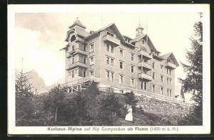 AK Gamperdon ob Flums, Kurhaus Alpina auf Alp