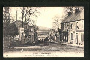 AK Camp de la Courtine, Avenue de la Gare, Strassenpartie