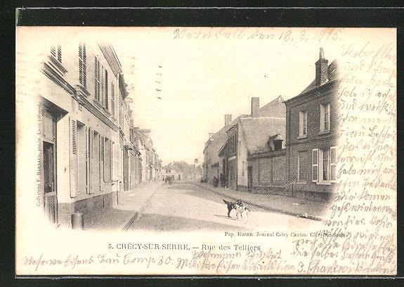 AK Crécy-sur-Serre, Rue des Telliers