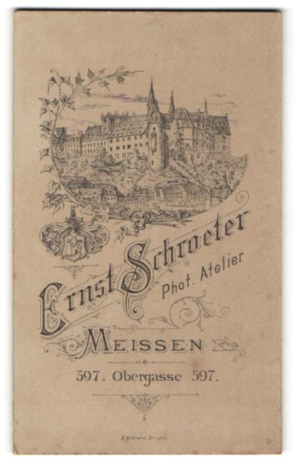 Fotografie Ernst Schroeter, Meissen, Ansicht Meissen, Blick zum Schloss