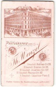 Fotografie Theodor Wenzel, Berlin, Ansicht Berlin, Atelier für Fotografie Andreas-Str. 28 Ecke Grüner Weg