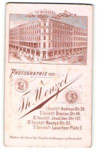 Fotografie Th. Wenzel, Berlin, Ansicht Berlin, Geschäftshaus & Atelier für Fotografie Andreas-Str. 28 Ecke Grüner Weg