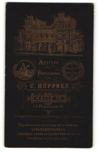 Fotografie C. Höpfner, Halle / Saale, Ansicht Halle / Saale, Foto-Atelier in der Poststrasse 13