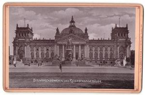 Fotografie Römmler & Jonas, Dresden, Ansicht Berlin, Bismarckdenkmal und Reichstagsgebäude