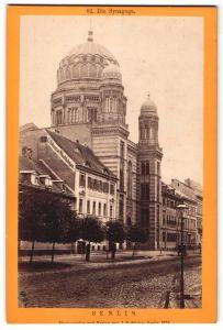 Fotografie J. F. Stiehm, Berlin, Ansicht Berlin, die Synagoge