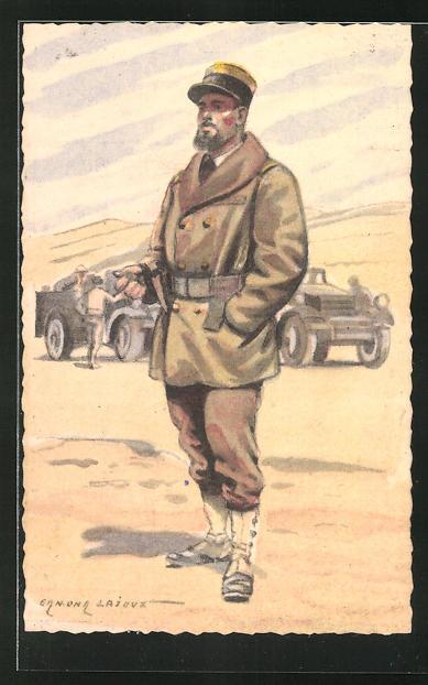 Künstler-AK Serie Armée Francaise de la Libération, Infanterie Coloniale - Officier