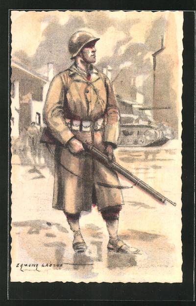Künstler-AK Serie Armée Francaise de la Libération, Infanterie de Ligne