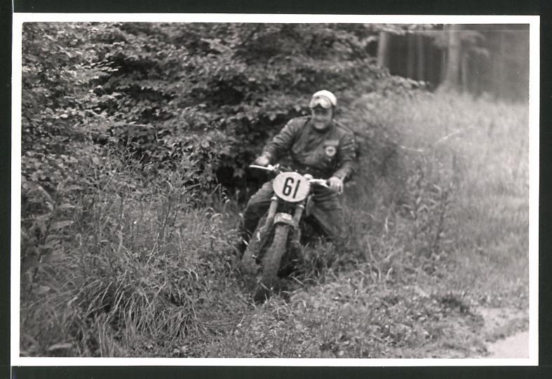 Fotografie Motorrad-Rennen Odenwaldfahrt, Motorrad DKW GS mit Startnummer 61